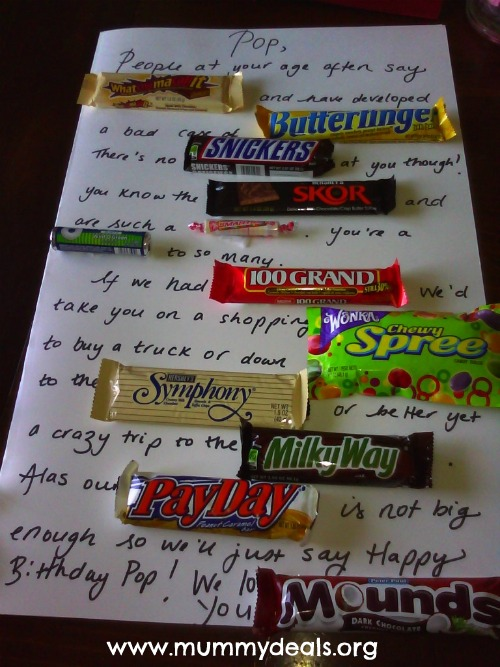 candy buffet poem for birthday ; candybar