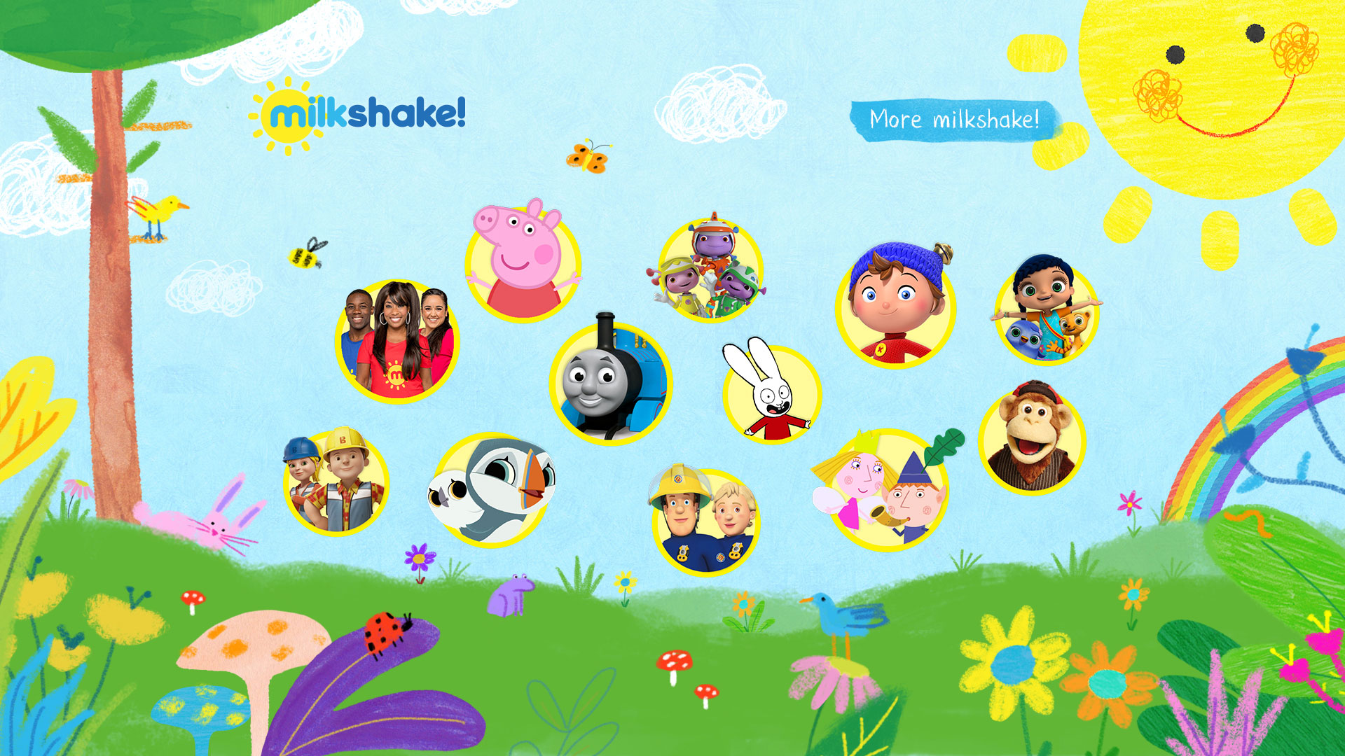 cbeebies birthday card repeat ; NEW-welcome-to-the-milkshake-website