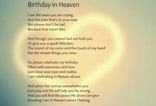 celebrating a birthday in heaven poem ; birthday-wishes-in-heaven-for-son