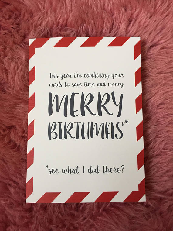 christmas and birthday card together ; il_570xN
