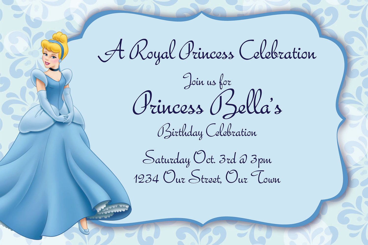 cinderella birthday card ; Cinderella-birthday-invitations-and-get-inspiration-to-create-the-birthday-invitation-design-of-your-dreams-1