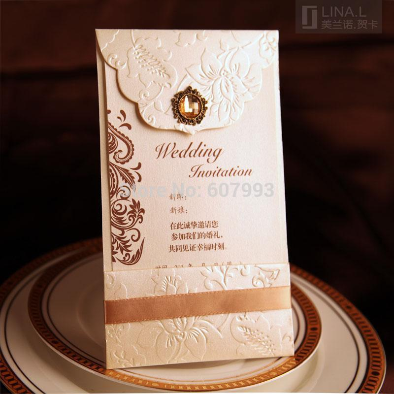 classic birthday invitation cards ; Classical-Luxury-Crystal-wedding-Invitation-cards-Birthday-Business-invitations-convites-with-envelope-100pcs-Express-shipping