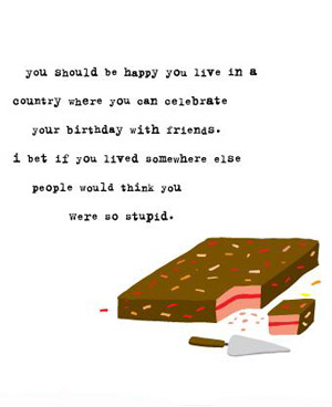 clever things to say on a birthday card ; uncooked_2