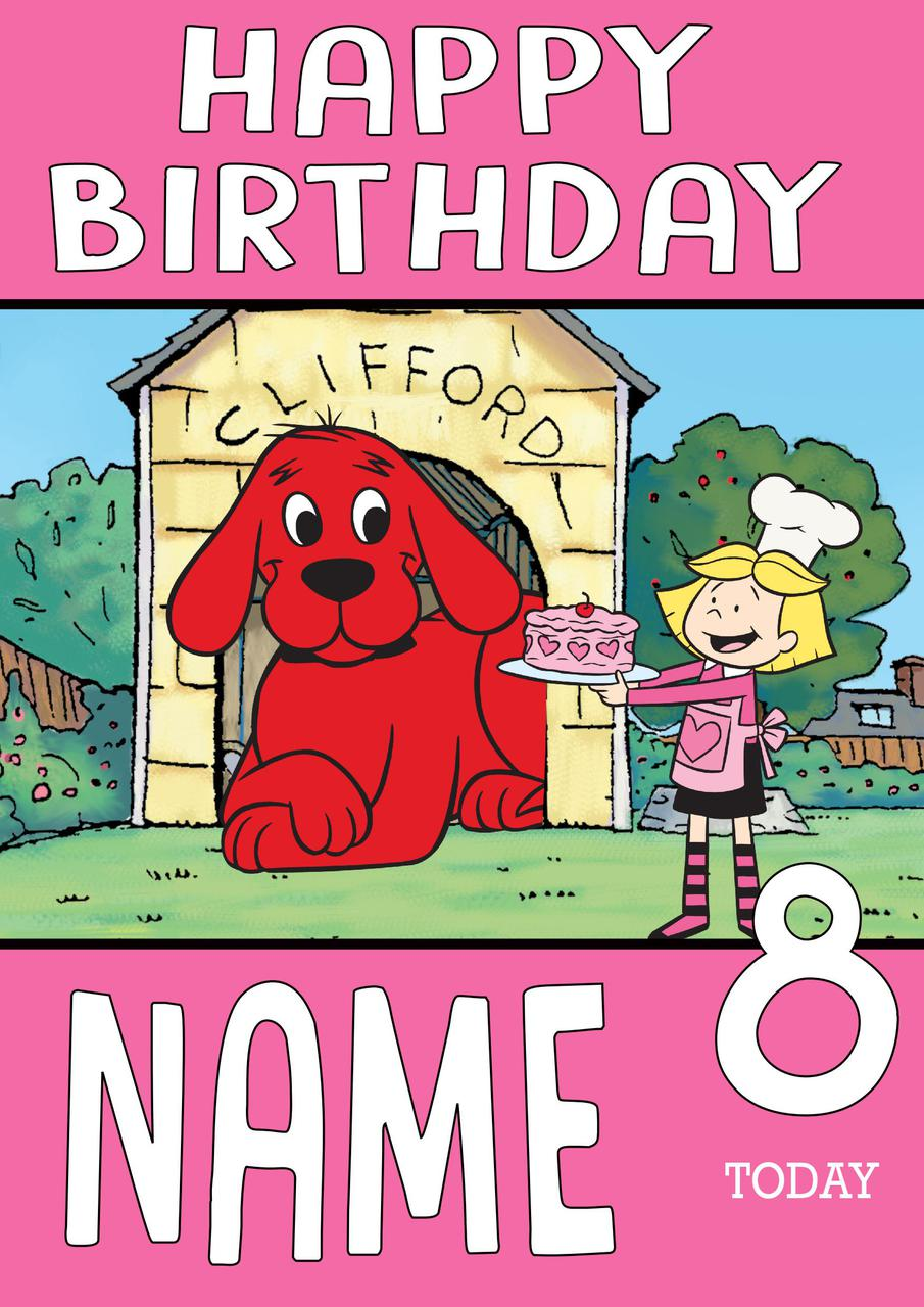 clifford the big red dog birthday card ; 0001_107__62170