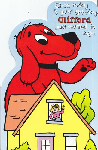 clifford the big red dog birthday card ; 51MoPO1TYsL