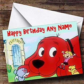 clifford the big red dog birthday card ; 71oEU7HSfHL