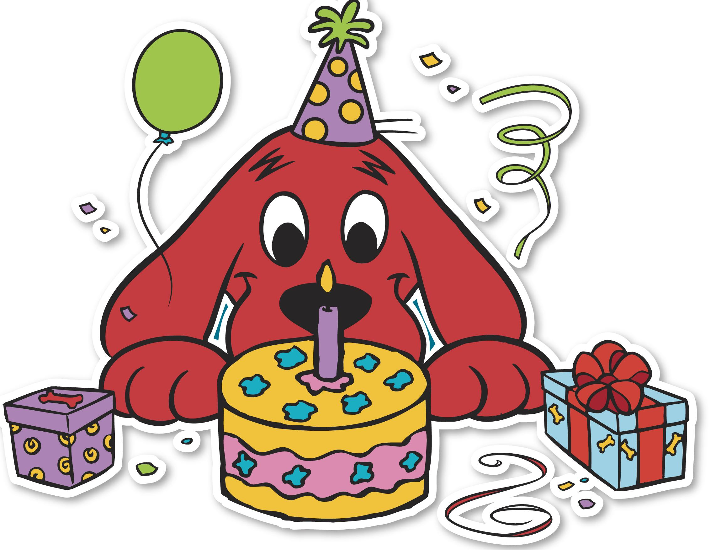 clifford the big red dog birthday card ; clifford_cake