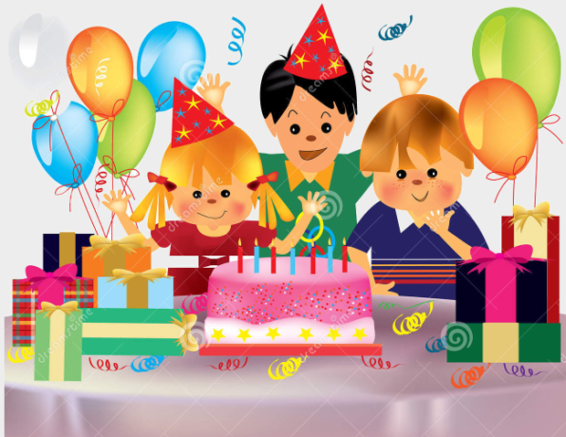 clip art birthday party pictures ; Cute-Birthday-Party-Clipart