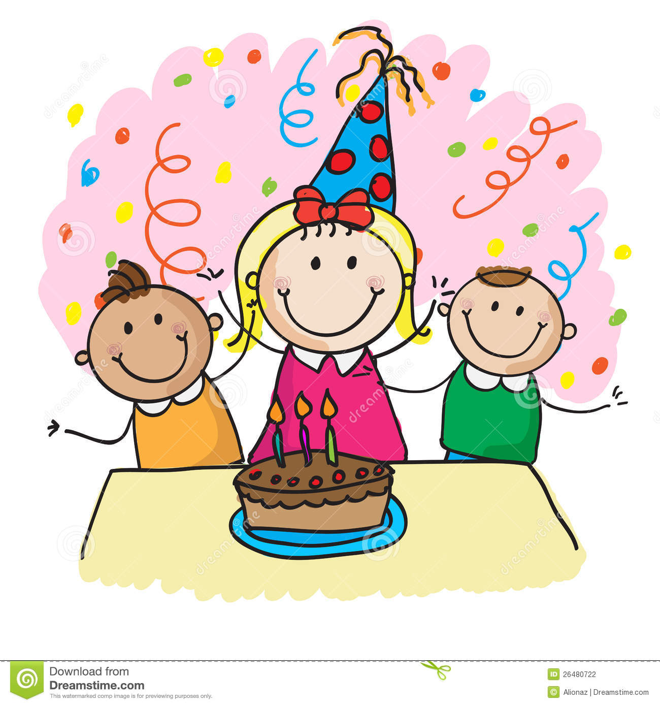 clip art birthday party pictures ; birthday-celebration-clipart-1