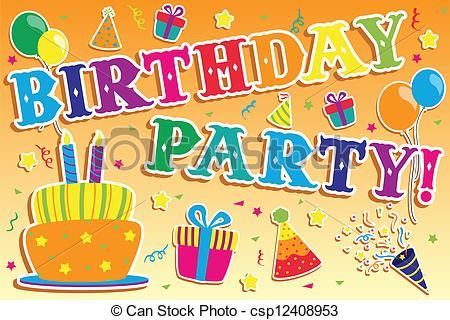 clip art birthday party pictures ; birthday-party-invitation-clipart-vector_csp12408953