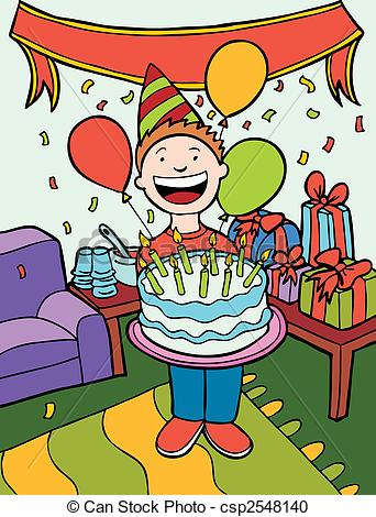 clip art birthday party pictures ; birthday-party-time-art-vector-clipart_csp2548140
