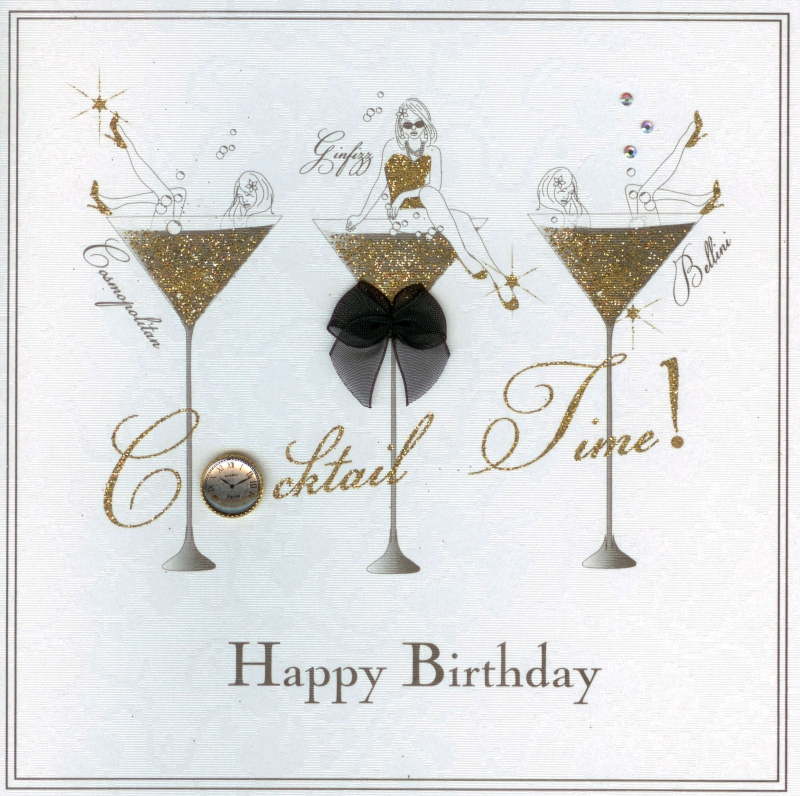 cocktail birthday card ; Cocktail_Time_Card