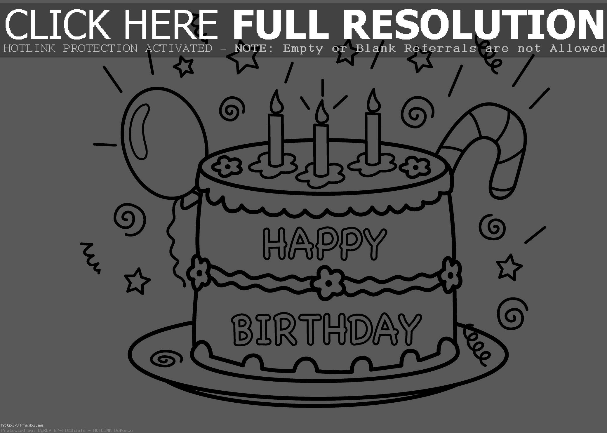 color a birthday cake ; birthday-cake-color-page-coloring-of-a