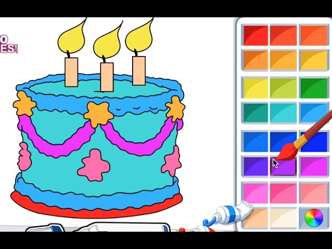 color a birthday cake ; hqdefault