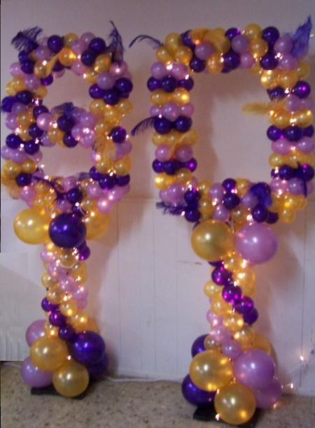 color theme for 80th birthday party ; 80th-Birthday-Decorations-Balloon-Display