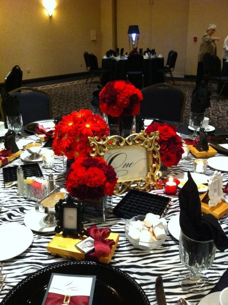 color theme for 80th birthday party ; 80th-Birthday-Decorations-Tables