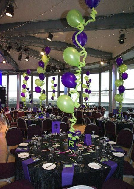 color theme for 80th birthday party ; color-theme-for-80th-birthday-party-80th-birthday-curly-balloon-centerpiece