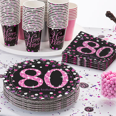 color theme for 80th birthday party ; pink-celebration-80th-link