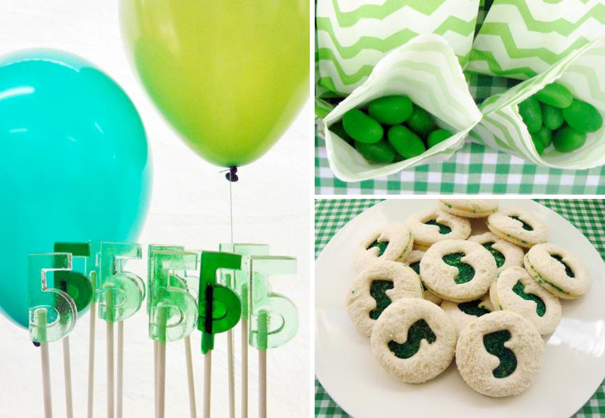 color themed birthday party ideas ; Green-themed-boys-birthday-party-perfect-st-patricks-day-party-via-Karas-Party-Ideas-karaspartyideas