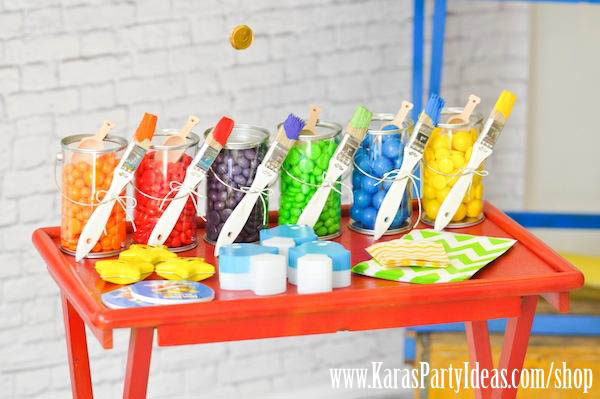 color themed birthday party ideas ; Mario-Themed-Birthday-Party-via-Karas-Party-Ideas-www