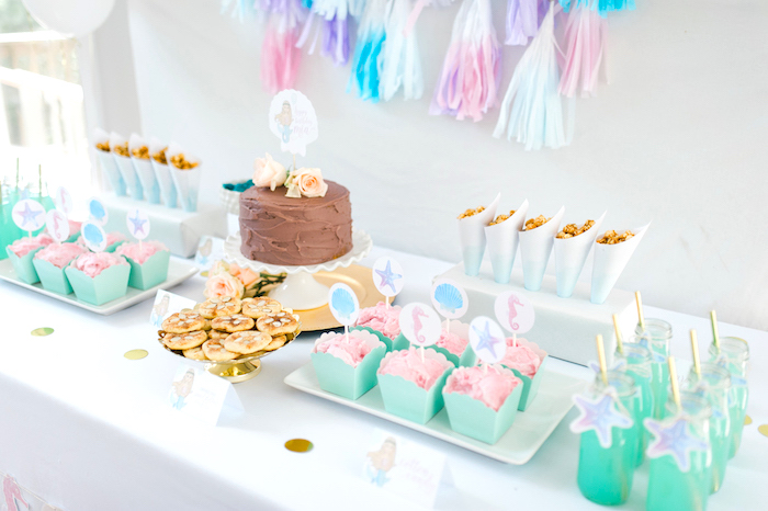 color themed birthday party ideas ; Pastel-Mermaid-Birthday-Party-via-Karas-Party-Ideas-KarasPartyIdeas