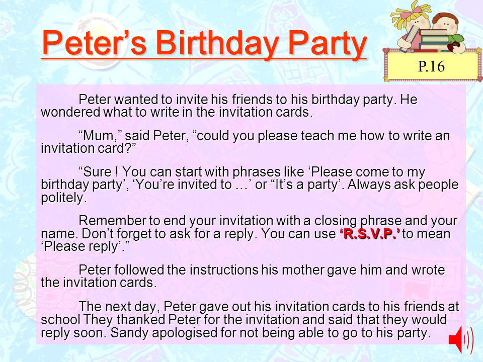 come to my birthday party invitation ; Peter%25E2%2580%2599s+Birthday+Party