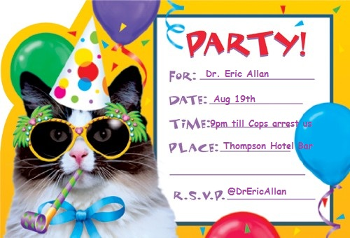 come to my birthday party invitation ; birthday-party-invitation