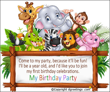 come to my birthday party invitation ; come-to-my-party