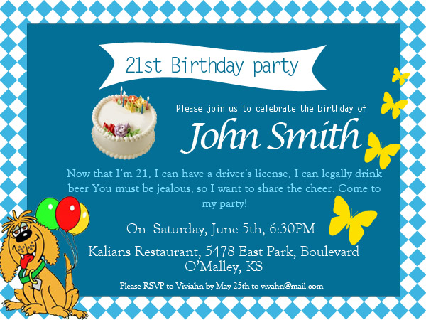 come to my birthday party invitation ; funny-21st-birhday-invitations-wording