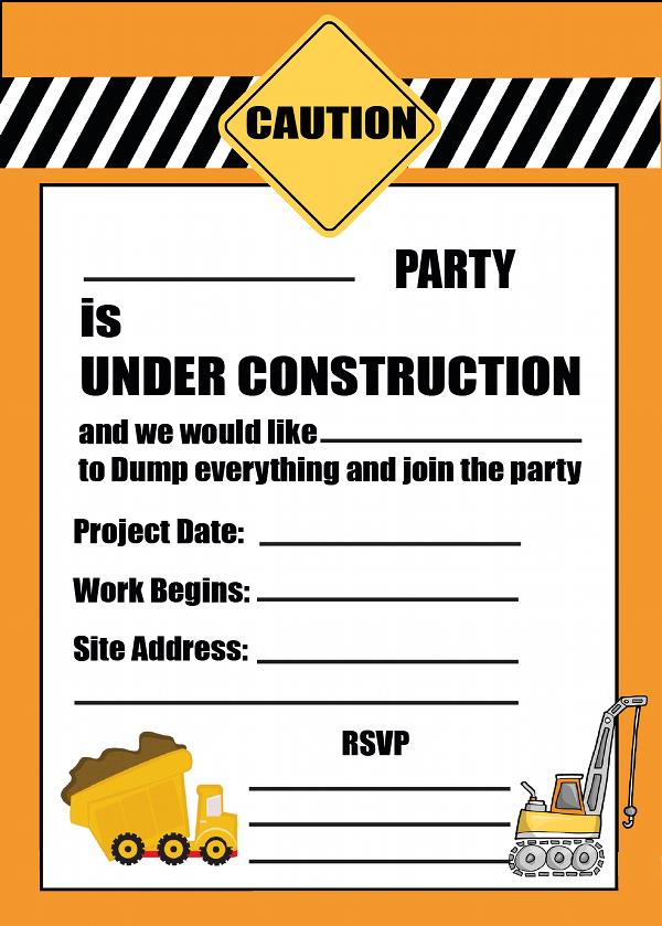 construction birthday party invitation templates ; construction-birthday-invitations-by-way-of-using-an-impressive-design-concept-for-your-easy-on-the-eye-Birthday-Invitation-Templates-20