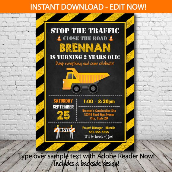 construction birthday party invitation templates ; construction-birthday-party-invitations-by-way-of-using-an-impressive-design-concept-for-your-drop-dead-Birthday-Invitation-Templates-19