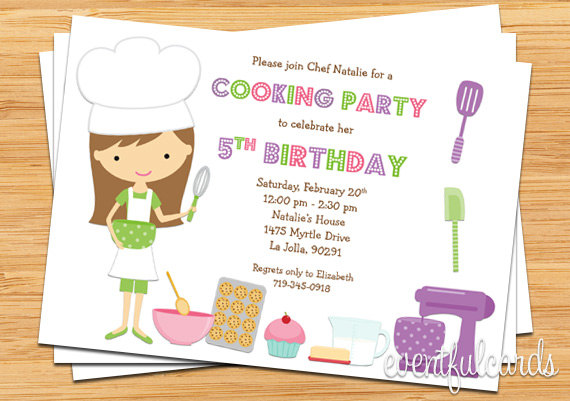 cooking birthday party ; cooking-party-invitations-kids-baking-birthday-party-invitation-printable