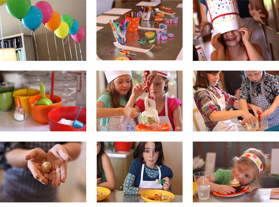 cooking birthday party ; girls-birthday-party