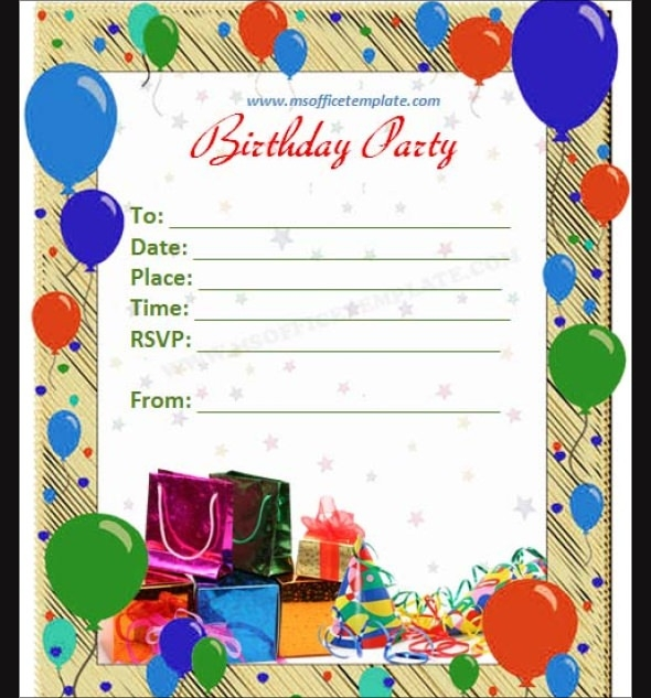 cool birthday card templates ; Birthday-Card-Marvelous-Birthday-Invite-Template