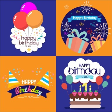 cool birthday card templates ; birthday_card_templates_isolated_with_various_styles_6825213
