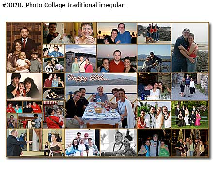 create birthday photo collage ; 3020_01-Birthday-Collage-Traditional