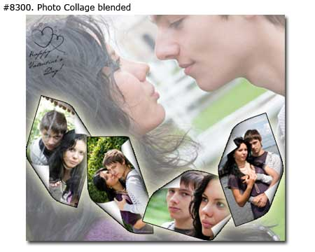 create birthday photo collage ; 8300_01-Couple-Collage-Blended