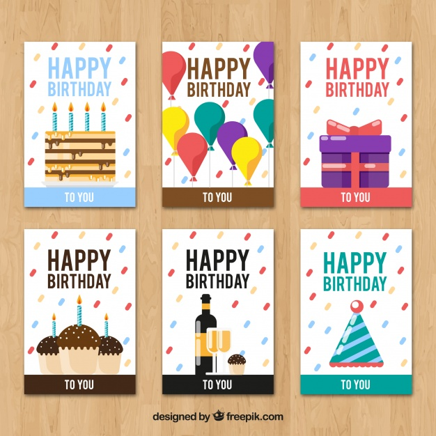 creative birthday cards ; creative-birthday-cards-collection_23-2147699063