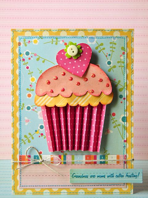 cupcake birthday card ; aa9491688879f5914028d3ea6215358a--paper-cupcake-cupcake-papers