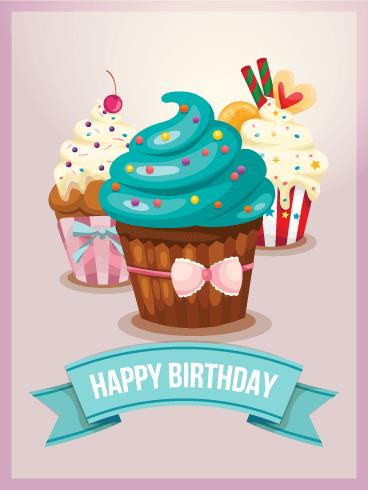 cupcake birthday card ; b_day26-ef5590168dd30a7a04571bd15914349a