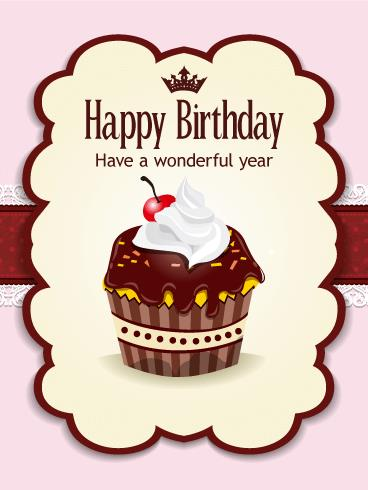 cupcake birthday card ; b_day63-a2d2ac8097971faba748884da71ec9e3