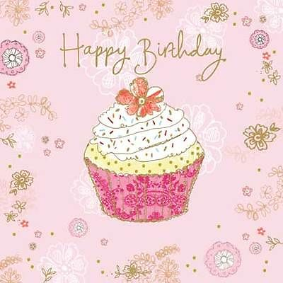cupcake birthday card ; birthday-card-glitter-cupcake-design-large-square-size-6