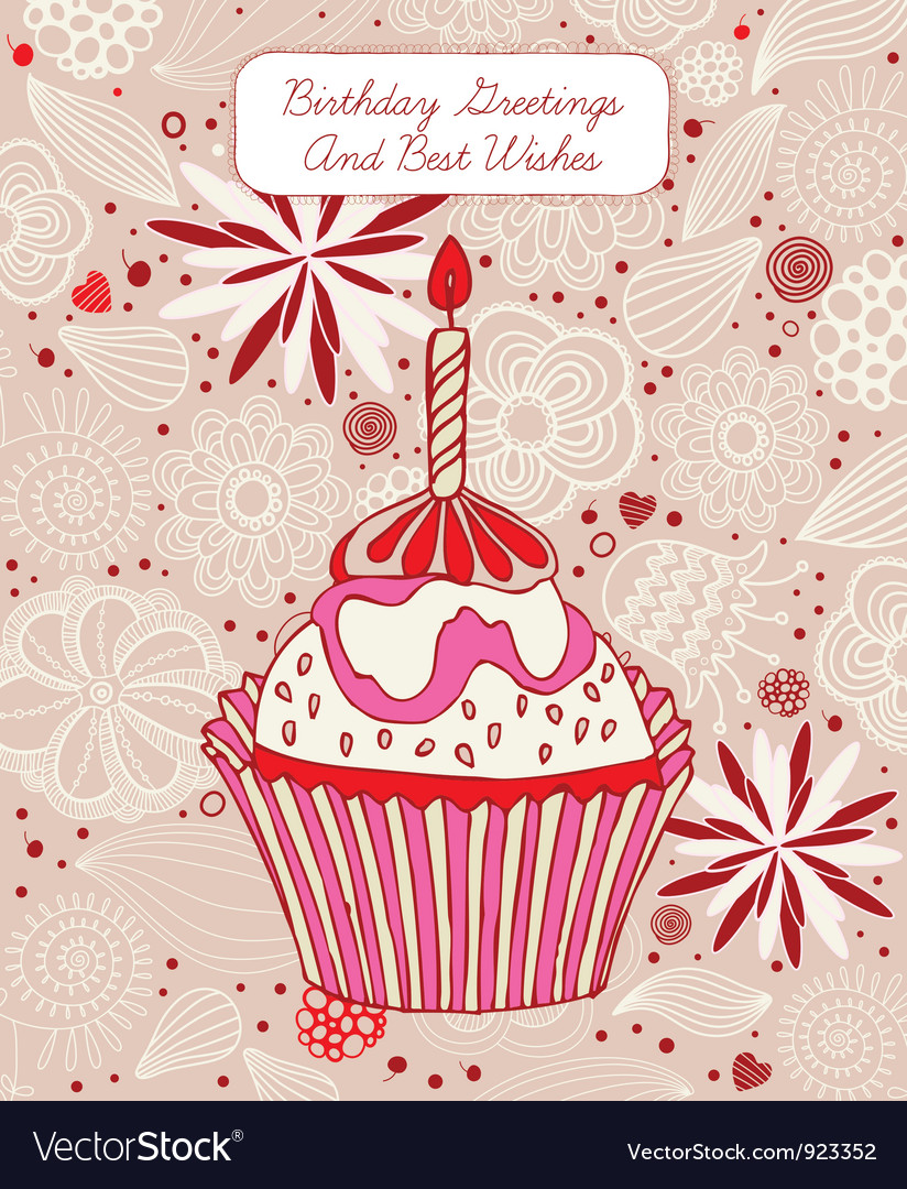 cupcake birthday card ; cupcake-birthday-card-vector-923352