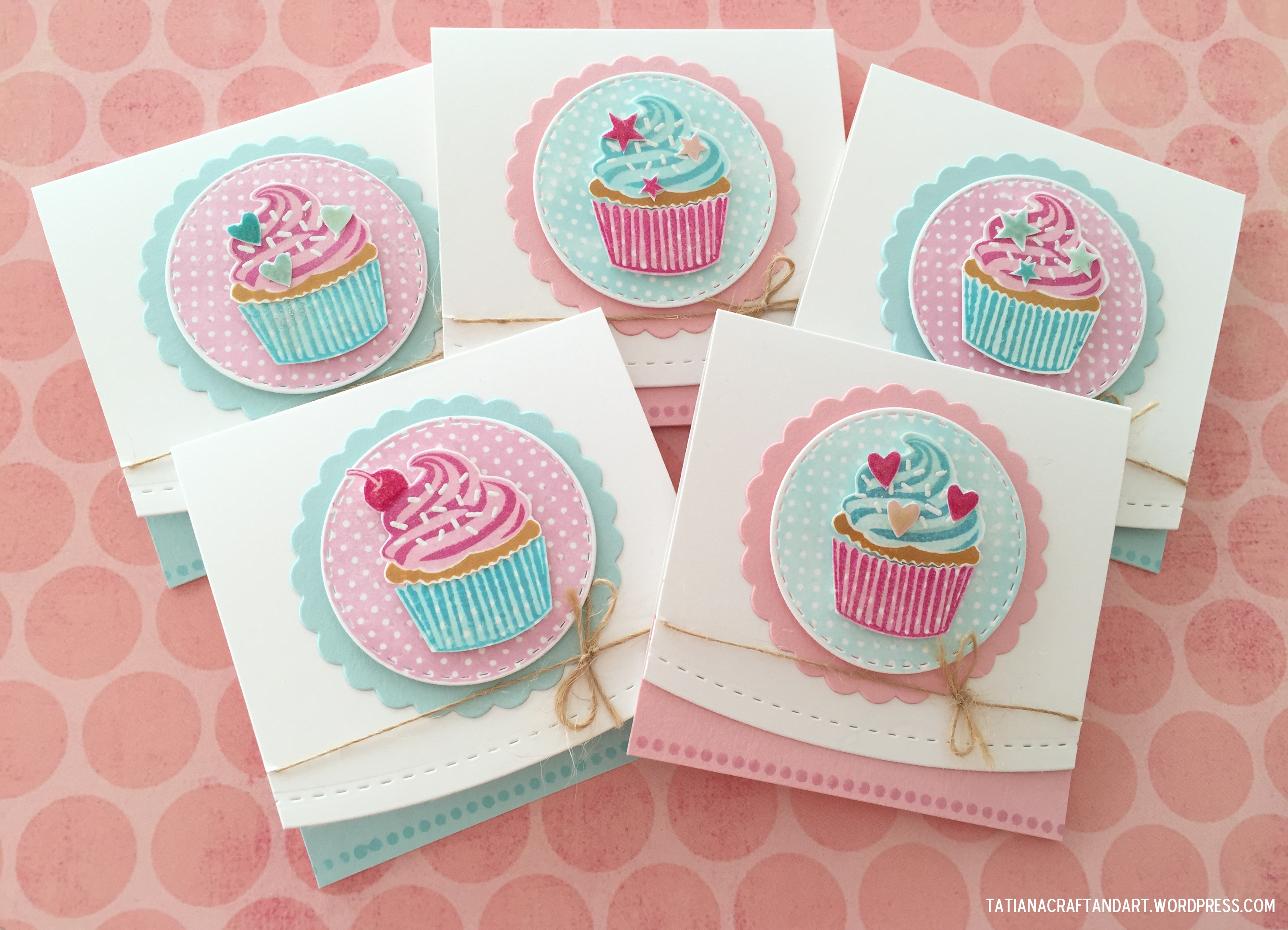 cupcake birthday card ; cupcakes-2015-1
