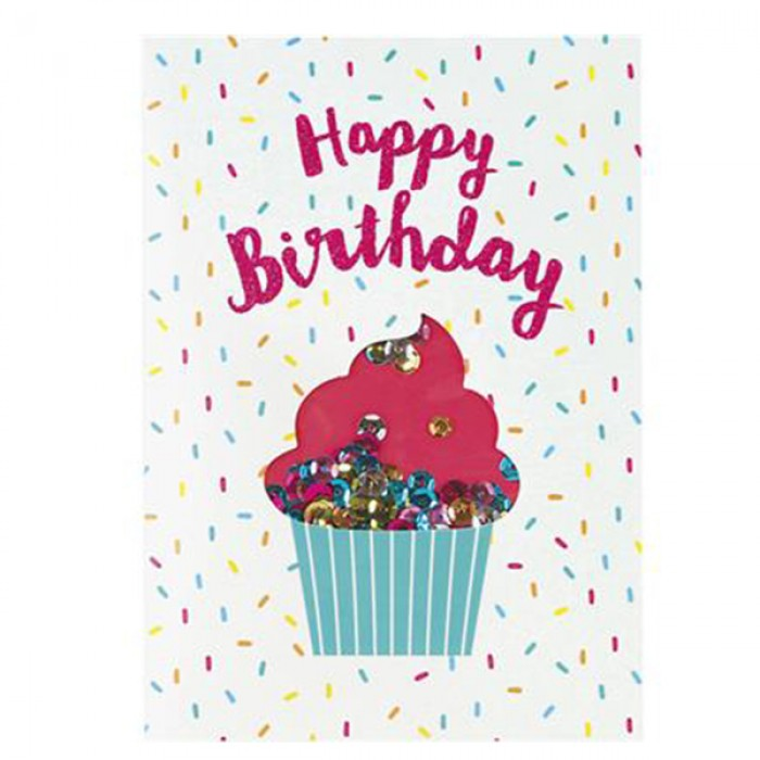 cupcake birthday card ; graphicquegreetingcardhappybirthdaycupcake01-700x700