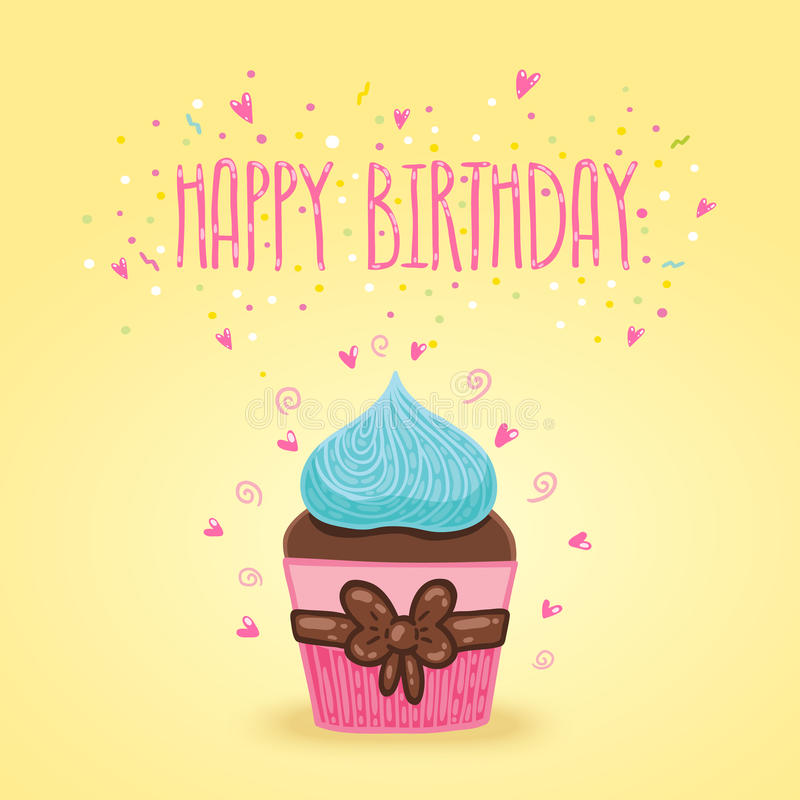 cupcake birthday card template ; happy-birthday-card-background-cupcake-vector-holiday-party-template-39979737