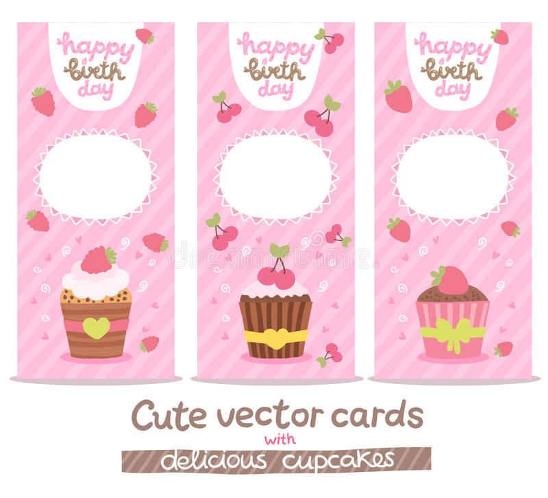 cupcake birthday card template ; happy-birthday-card-background-cupcakes-vector-holiday-party-template-41728346