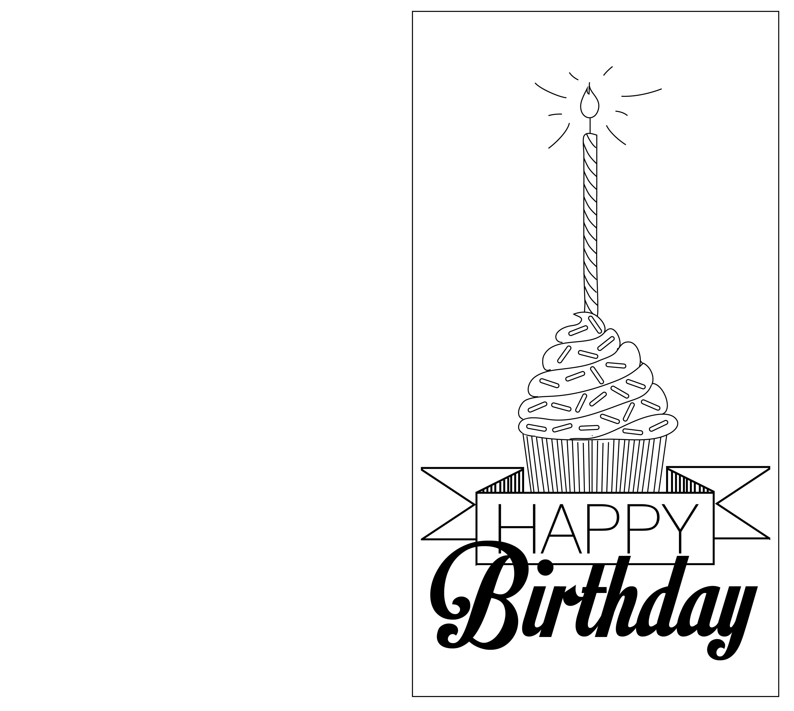 cupcake birthday card template ; print-your-own-birthday-card-template-elegant-print-out-black-and-white-birthday-cards-of-print-your-own-birthday-card-template