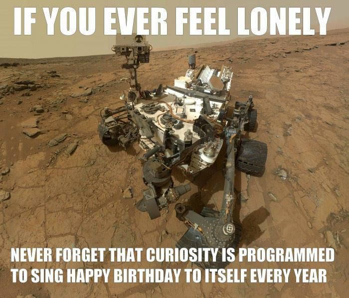 curiosity mars rover happy birthday ; 29a4198cb8b8b508138797cf84e91de5