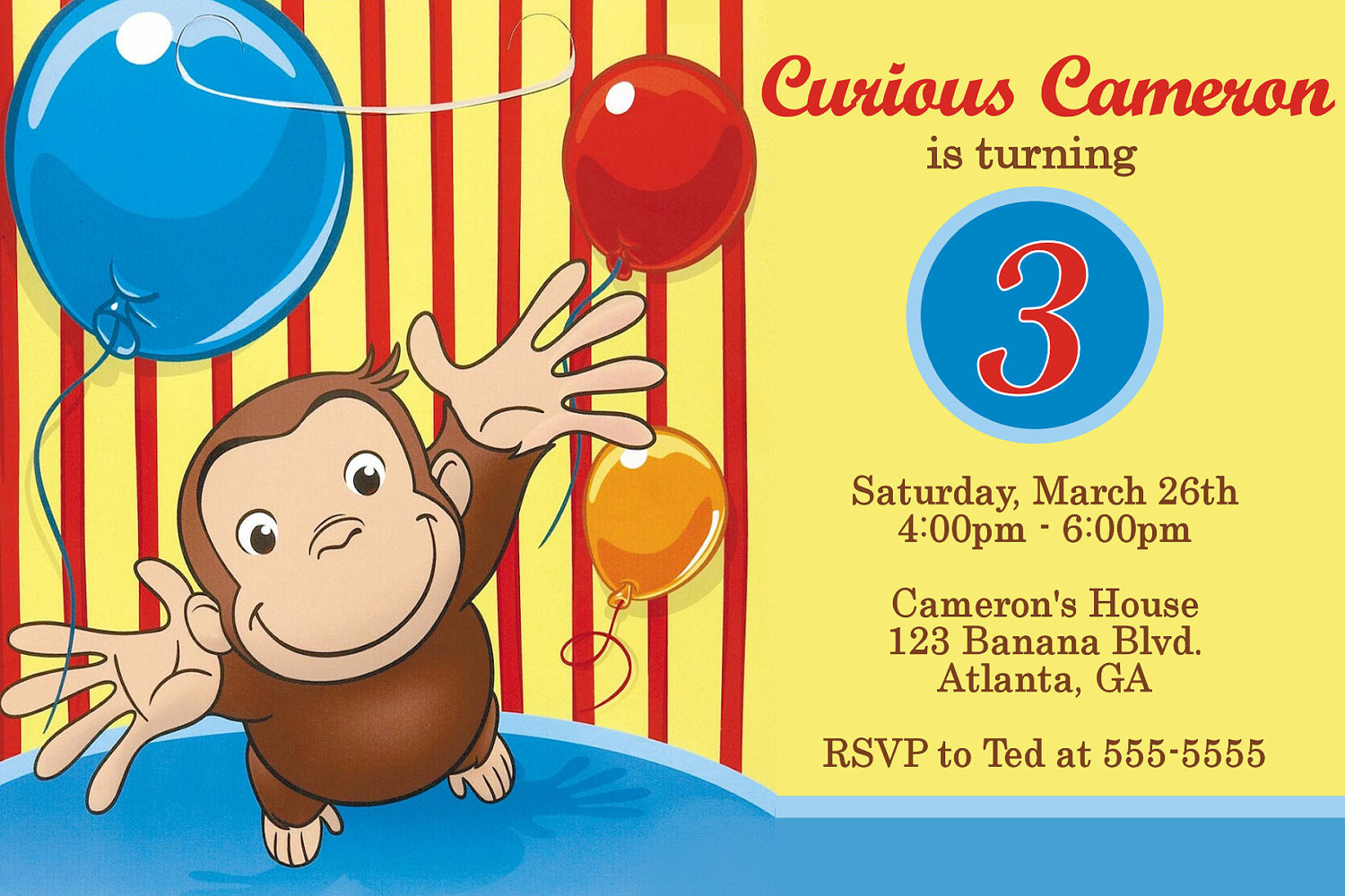 curious george birthday invitation template ; Curious-George-Birthday-Invitations